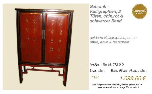 86-63-072-0-0-Schrank - Kalligraphien, 2