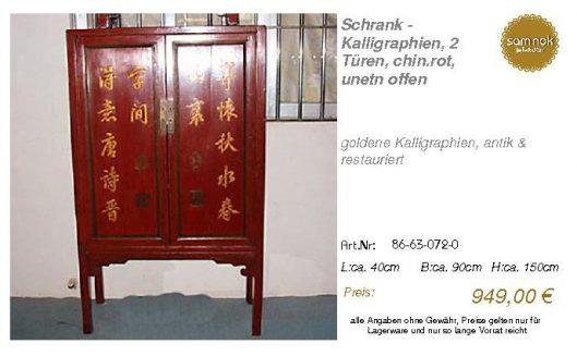 86-63-072-0-Schrank - Kalligraphien, 2