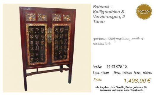 86-63-072-10-Schrank - Kalligraphien & V