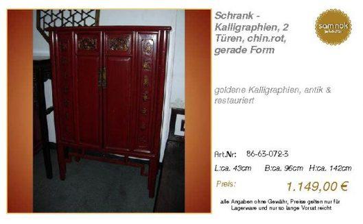 86-63-072-3-Schrank - Kalligraphien, 2