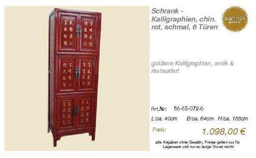 86-63-072-6-Schrank - Kalligraphien, ch