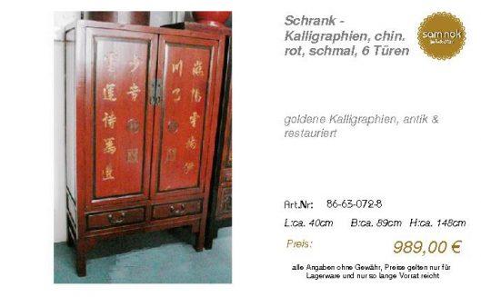 86-63-072-8-Schrank - Kalligraphien, ch