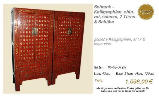 86-63-072-9-Schrank - Kalligraphien, ch
