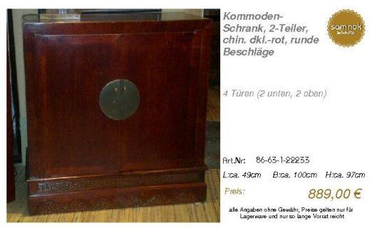 86-63-1-22233-Kommoden-Schrank, 2-Teiler,