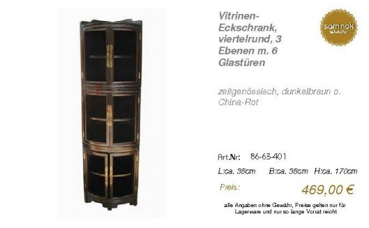 86-63-401-Vitrinen- Eckschrank, viert