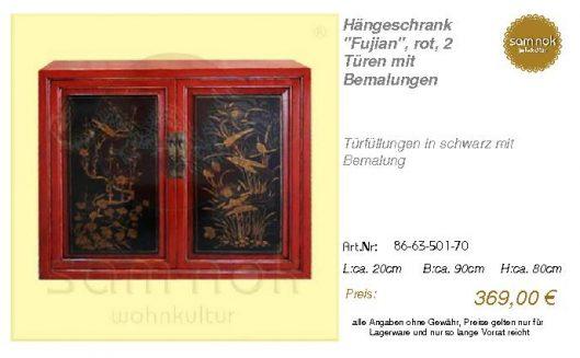 86-63-501-70-Hängeschrank _Fujian_, rot,