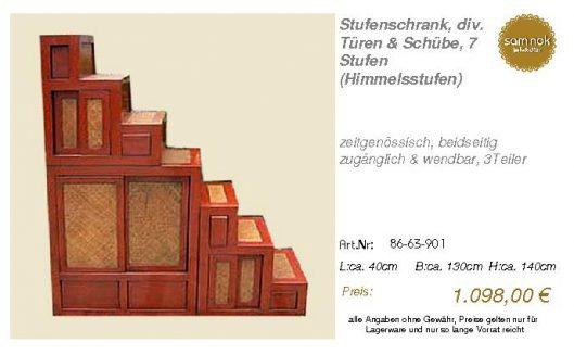 86-63-901-Stufenschrank, div. Türen &
