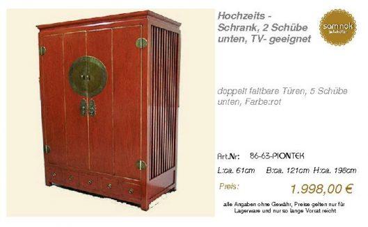 86-63-PIONTEK-Hochzeits - Schrank, 2 Schü