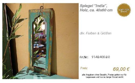 91-42-400-2-0-Spiegel _India_, Holz, ca._sam nok