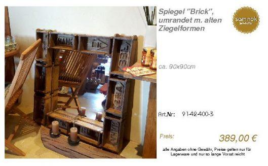 91-42-400-3-Spiegel _Brick_, umrandet m_sam nok