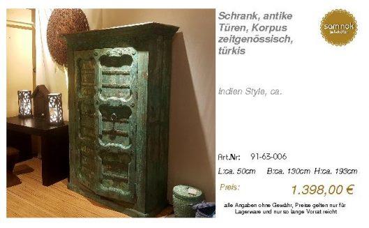 91-63-006-Schrank, antike Türen, Korp