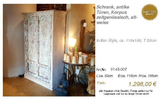 91-63-007-Schrank, antike Türen, Korp