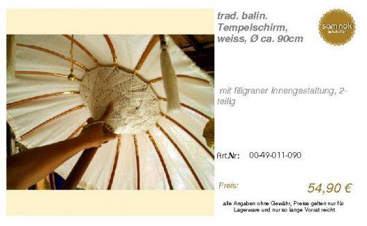 00-49-011-090-trad. balin. Tempelschirm, _sam nok