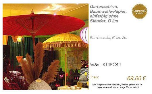 01-49-004-1-Gartenschirm, Baumwolle_Pap _sam nok