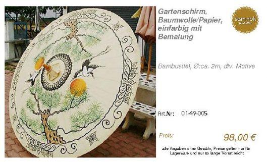 01-49-005-Gartenschirm, Baumwolle_Pap _sam nok