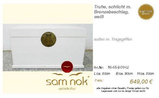 86-63-2-09-W-Truhe, schlicht m. Bronzebe _sam nok