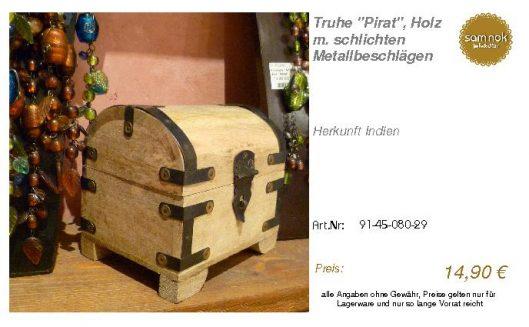 91-45-080-29-Truhe _Pirat_, Holz m. schl _sam nok
