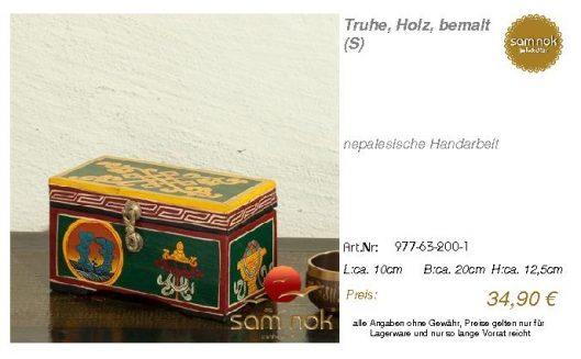977-63-200-1-Truhe, Holz, bemalt (S _sam nok